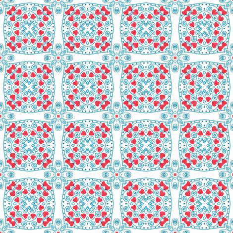Valentine Day Hearts II fabric by captiveinflorida on Spoonflower - custom fabric
