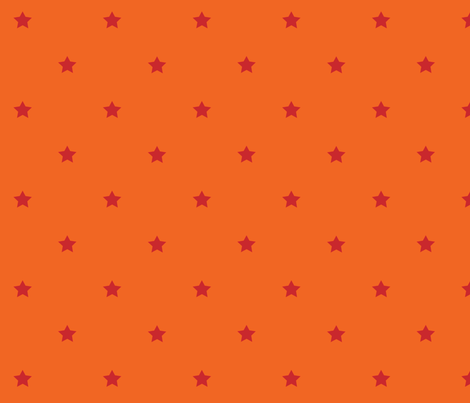 STARS_orange_red fabric by yvonne_herbst on Spoonflower - custom fabric