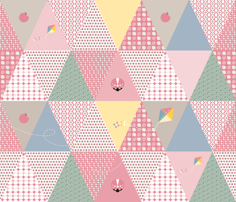 ladybird bunting fabric by small_pie on Spoonflower - custom fabric