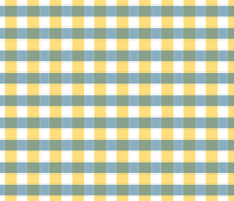 Beyond the Sea: Gingham Sun fabric by threeyellowplums on Spoonflower - custom fabric