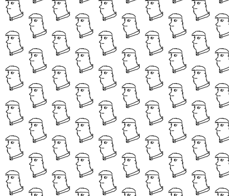 The Man fabric by relative_of_otis on Spoonflower - custom fabric