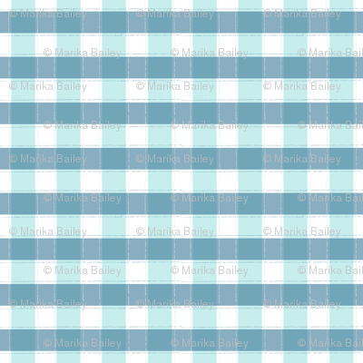 Beyond the Sea: Gingham Seafoam