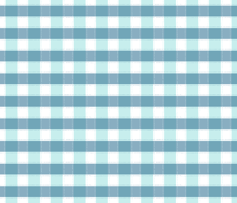 Beyond the Sea: Gingham Seafoam fabric by threeyellowplums on Spoonflower - custom fabric