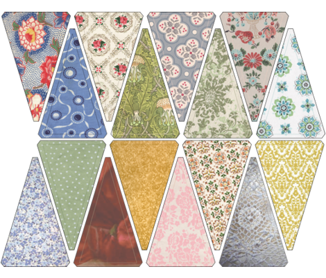 bnybunting fabric by lunakat805 on Spoonflower - custom fabric