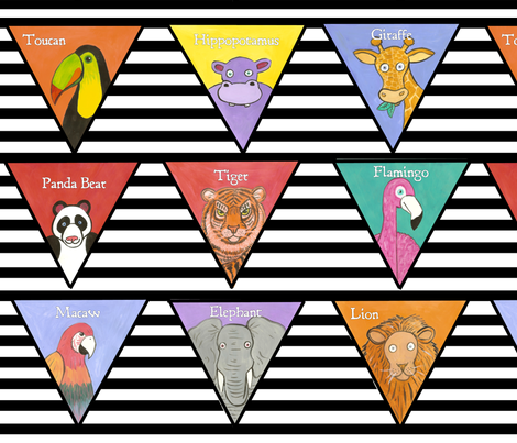 In The Jungle Baby Bunting fabric by asilo on Spoonflower - custom fabric