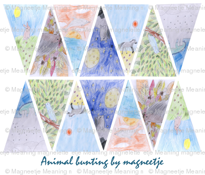 animal bunting by 10yrs old Magnelette