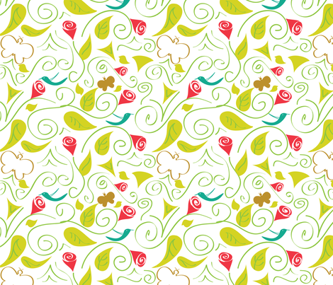 BOTANICAL fabric by mishysfire on Spoonflower - custom fabric