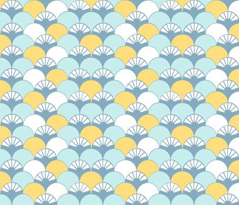 Beyond the Sea: Lotus fabric by threeyellowplums on Spoonflower - custom fabric