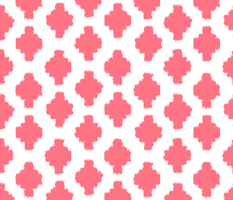Beyond the Sea: Ikat Coral fabric by threeyellowplums on Spoonflower - custom fabric