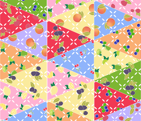 Fifties_Fruit_Bunting fabric by jumping_monkeys on Spoonflower - custom fabric