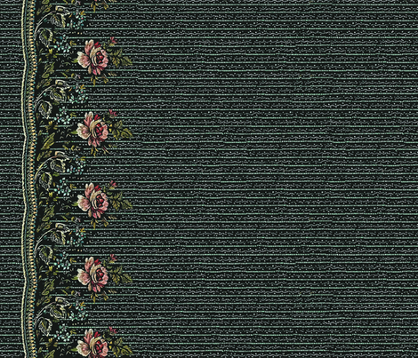 Dark Grey 18th Century Border Print fabric by izodiea on Spoonflower - custom fabric
