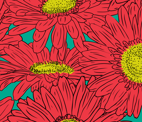 FireFlower fabric by jmckinniss on Spoonflower - custom fabric