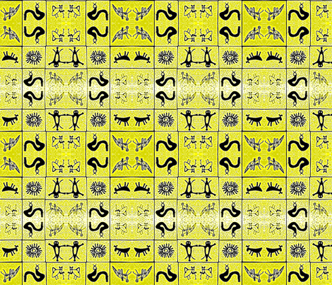 Pictograph Tiles fabric by robin_rice on Spoonflower - custom fabric