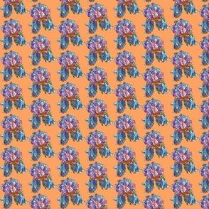 mini iris in orange