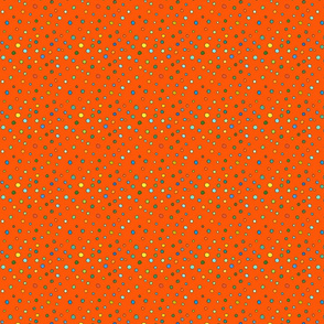 mini small dots in dark orange