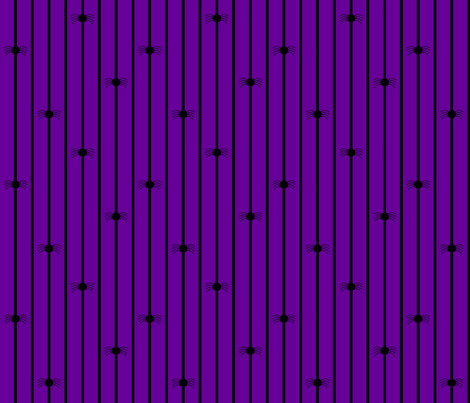 Spider Stripe Purple fabric by modgeek on Spoonflower - custom fabric