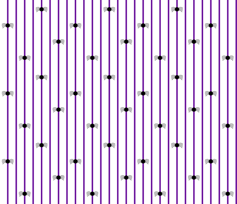 Spider Stripe Black & Purple fabric by modgeek on Spoonflower - custom fabric
