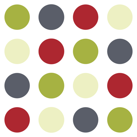 Cranberry and Lime Dot fabric by jmckinniss on Spoonflower - custom fabric