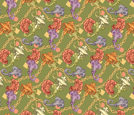 Mellow rococo fabric by hannafate on Spoonflower - custom fabric