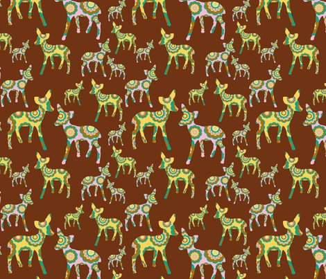 Rpink_and_yellow_deer_on_brown_fabric_16inch_tile_copy_shop_preview