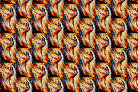 Passion and Fire fabric by afremov_designs on Spoonflower - custom fabric