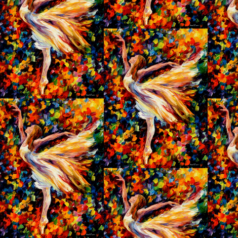 The Beauty of Dance fabric by afremov_designs on Spoonflower - custom fabric