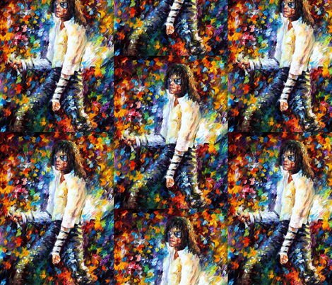 Michael Jackson fabric by afremov_designs on Spoonflower - custom fabric