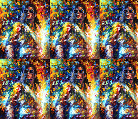 Michael Jackson II fabric by afremov_designs on Spoonflower - custom fabric