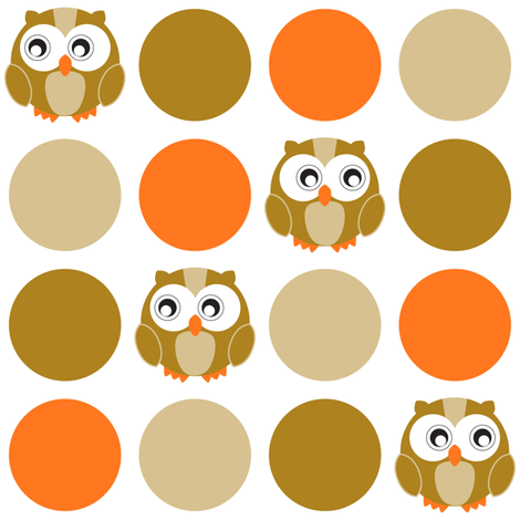 owl-dot fabric by jmckinniss on Spoonflower - custom fabric