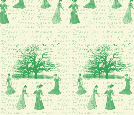 Votes for Women Toile fabric by tracydb70 on Spoonflower - custom fabric