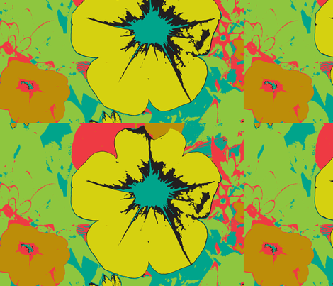 big yellow flower fabric by becca_lou on Spoonflower - custom fabric