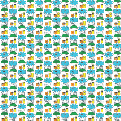 tomodachi-rain-ch fabric by birgitterosenkilde on Spoonflower - custom fabric