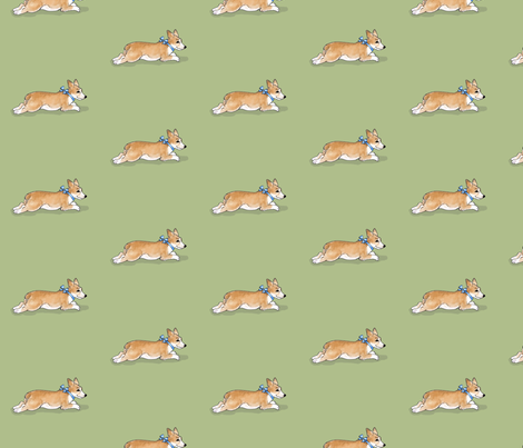 Pembroke Welsh Corgi Puppy fabric by hauteideas on Spoonflower - custom fabric