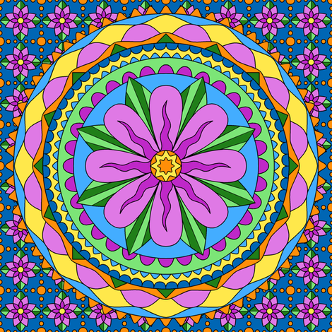 Flower Mandala-pink fabric by shala on Spoonflower - custom fabric