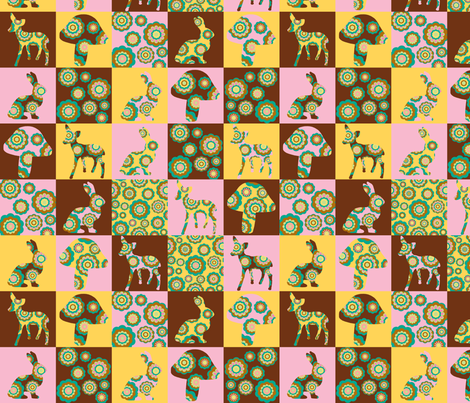 retro woodland cheater quilt fabric by uzumakijo on Spoonflower - custom fabric