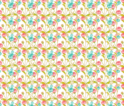 marigold blooms fabric by indesign on Spoonflower - custom fabric