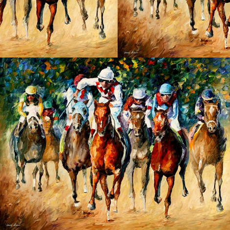 Horse Race fabric by afremov_designs on Spoonflower - custom fabric