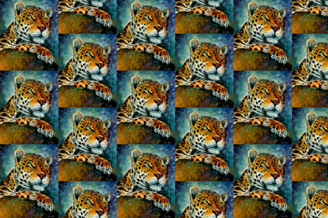 Leopard fabric by afremov_designs on Spoonflower - custom fabric