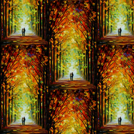 Altar of Trees fabric by afremov_designs on Spoonflower - custom fabric