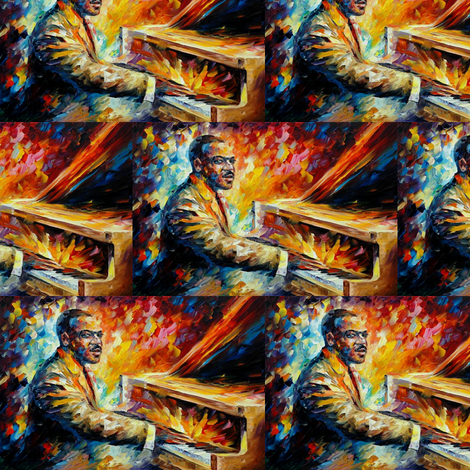 Count Basie fabric by afremov_designs on Spoonflower - custom fabric