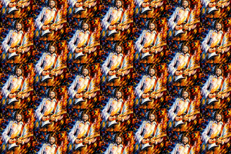 Eric Clapton fabric by afremov_designs on Spoonflower - custom fabric