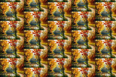 Forest Stream fabric by afremov_designs on Spoonflower - custom fabric