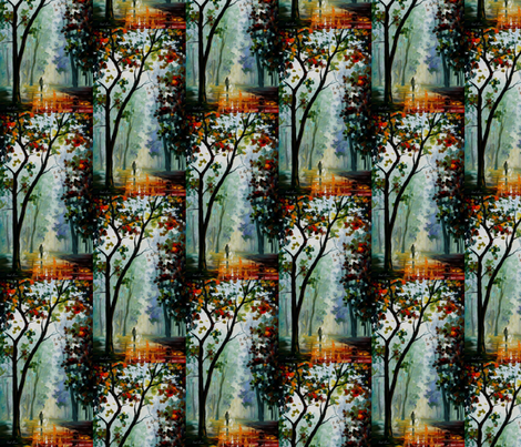Golden Path fabric by afremov_designs on Spoonflower - custom fabric