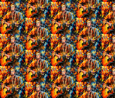 Johnny Cash fabric by afremov_designs on Spoonflower - custom fabric