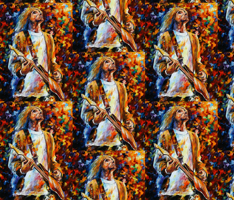 Kurt Cobain fabric by afremov_designs on Spoonflower - custom fabric