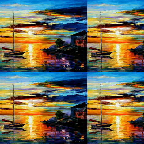 Sicily Messina fabric by afremov_designs on Spoonflower - custom fabric