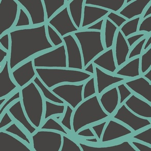 teal and grey vine