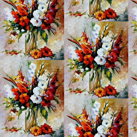 Gladiolus fabric by afremov_designs on Spoonflower - custom fabric