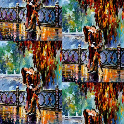 Kiss After The Rain fabric by afremov_designs on Spoonflower - custom fabric