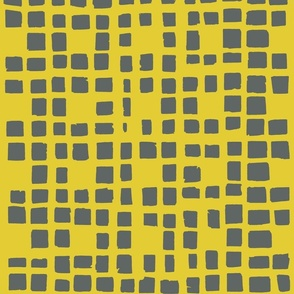 yellow-green and grey grid